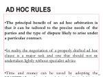 ad hoc rules