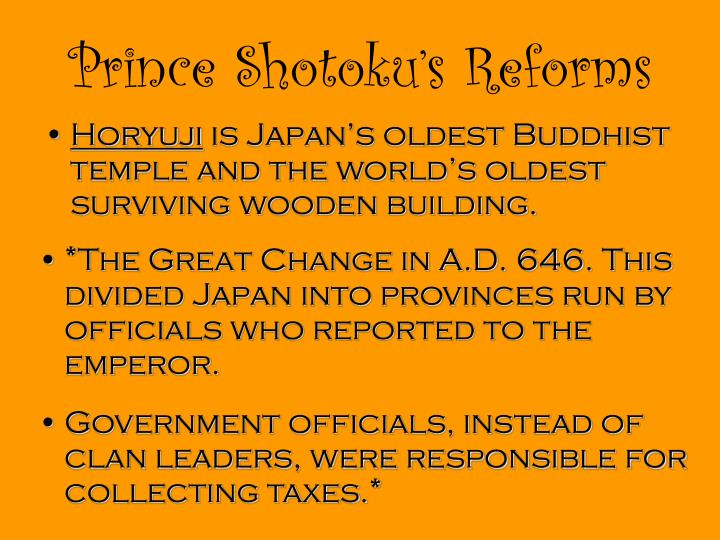 Prince Shotoku's Reforms