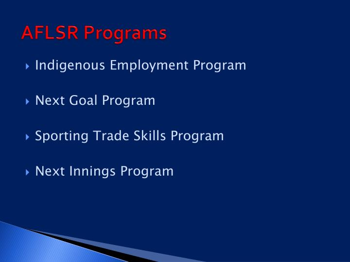 AFLSR Programs