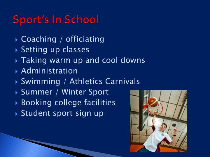 Sport's In School