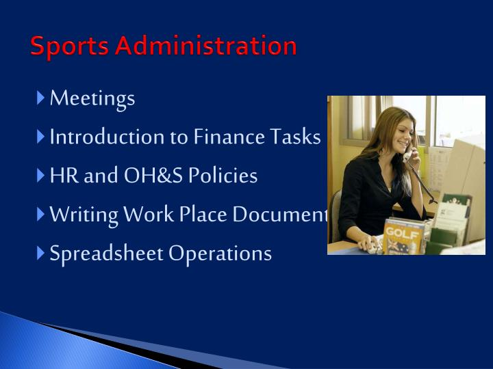 Sports Administration