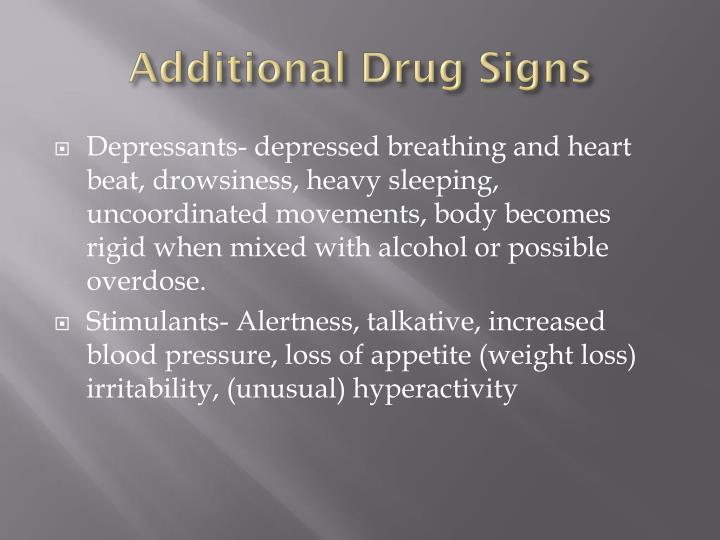 Additional Drug Signs