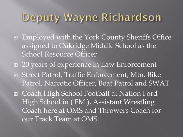 Deputy Wayne Richardson