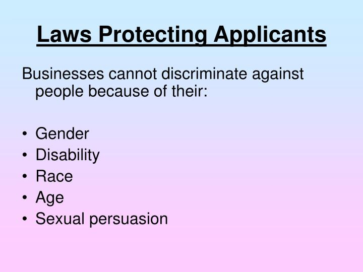 Laws Protecting Applicants