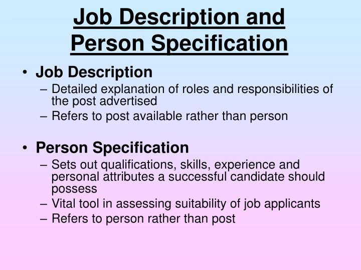Job Description and
