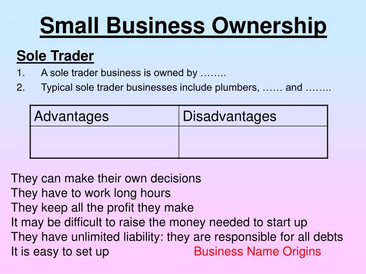 Small Business Ownership
