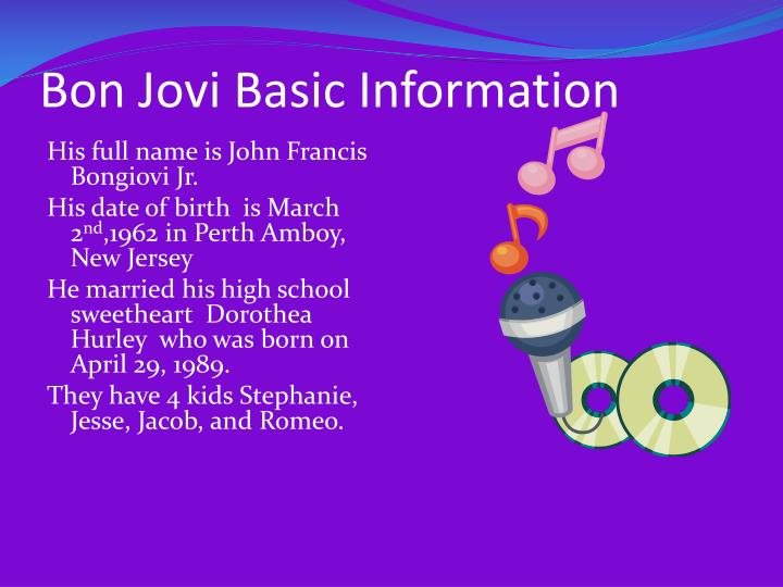 Bon jovi basic information