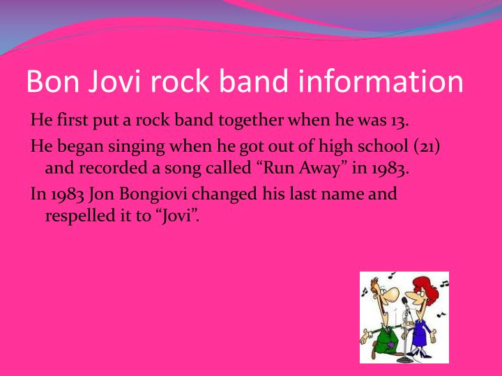 Bon jovi rock band information