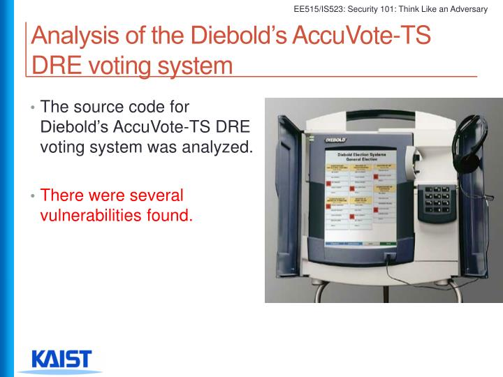 Analysis of the Diebold's