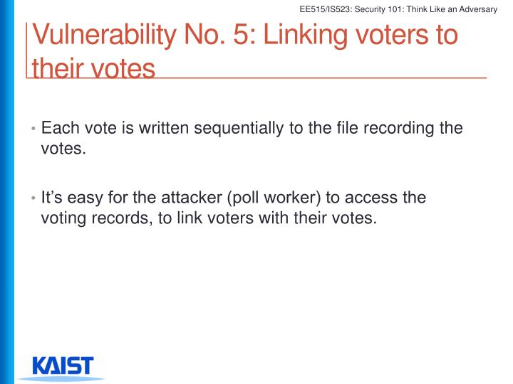 Vulnerability No. 5: