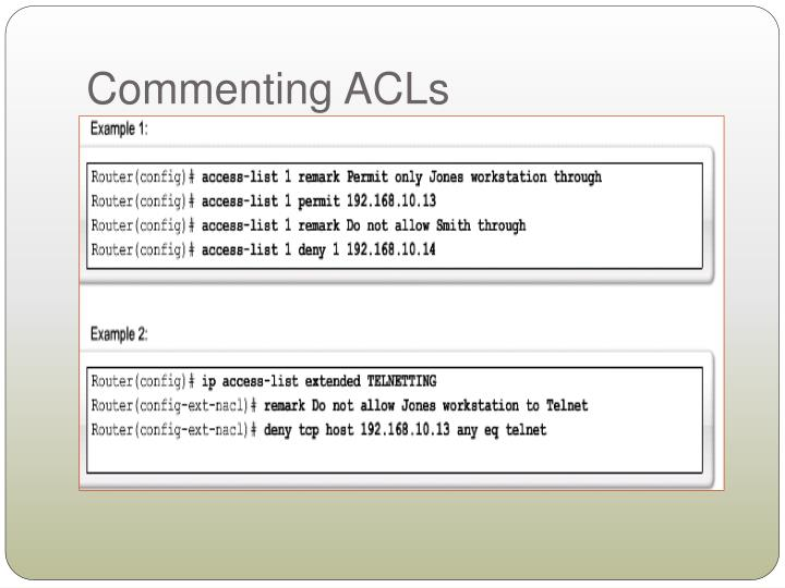 Commenting ACLs
