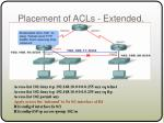 placement of acls extended