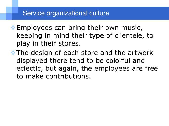Serviceorganizational culture