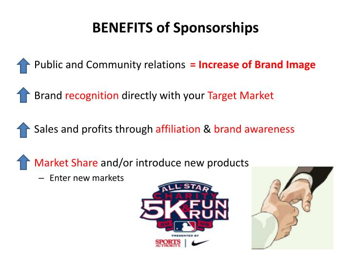 BENEFITS of Sponsorships