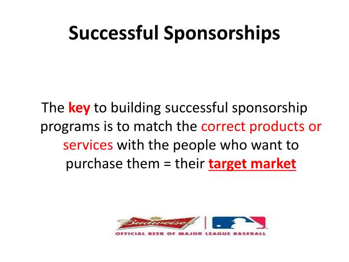 Successful Sponsorships