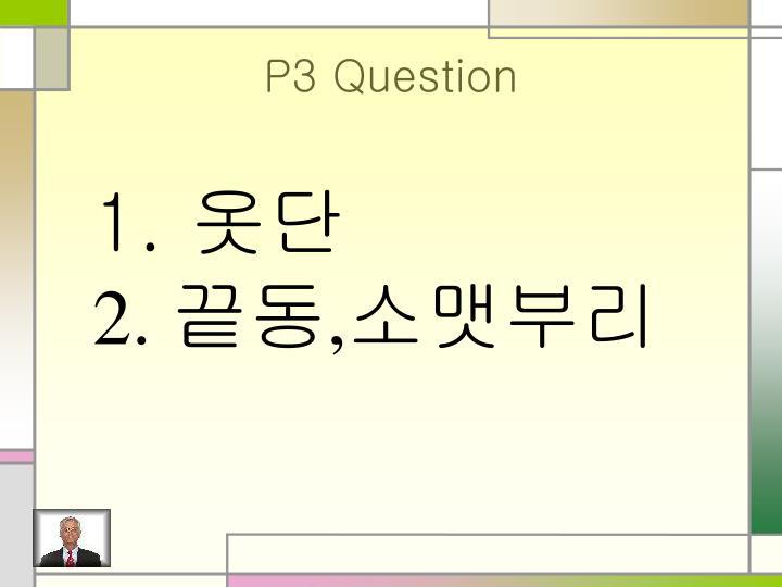 P3 Question