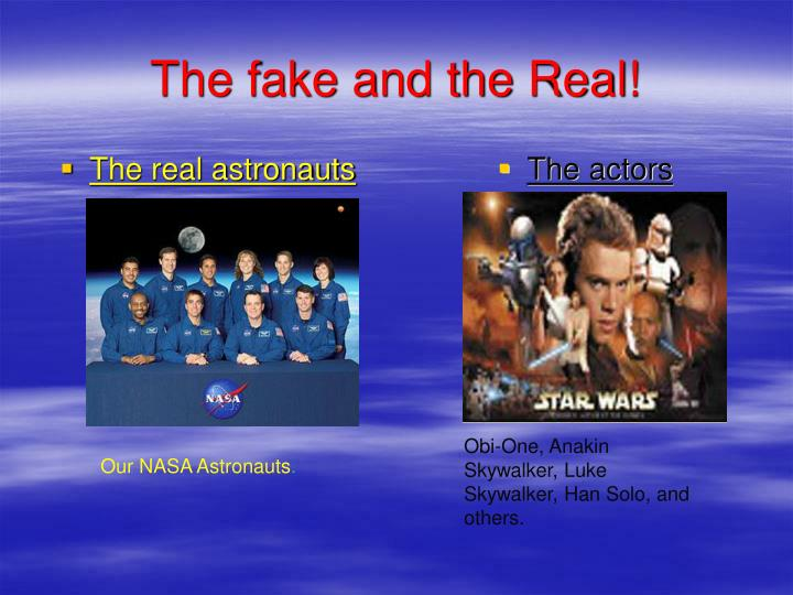 The real astronauts