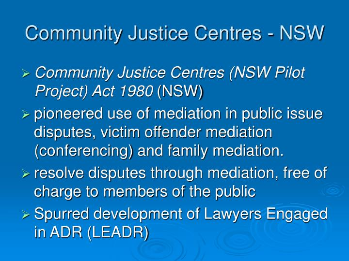 Community Justice Centres - NSW