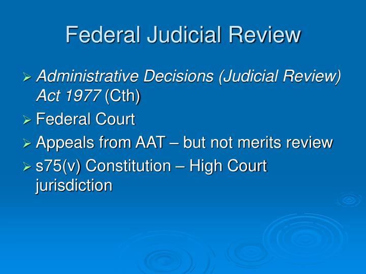 Federal Judicial Review