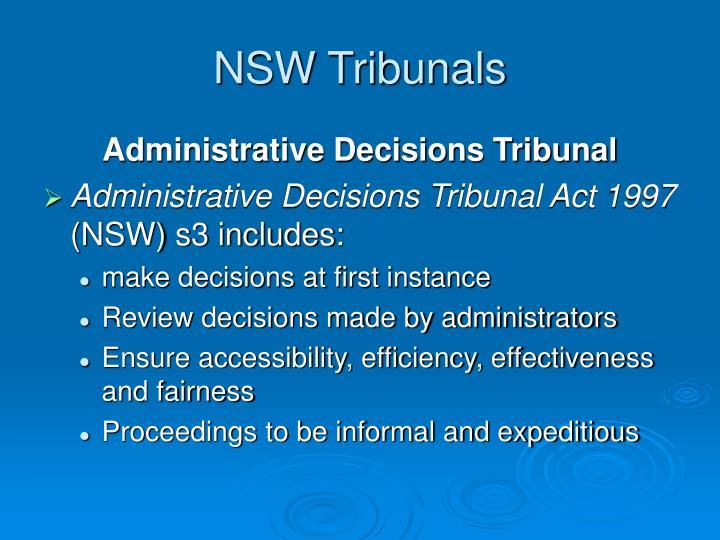 NSW Tribunals