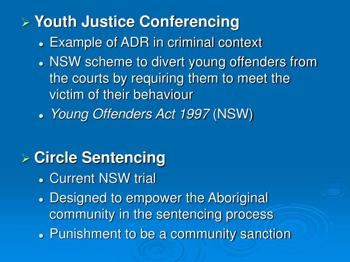 Youth Justice Conferencing