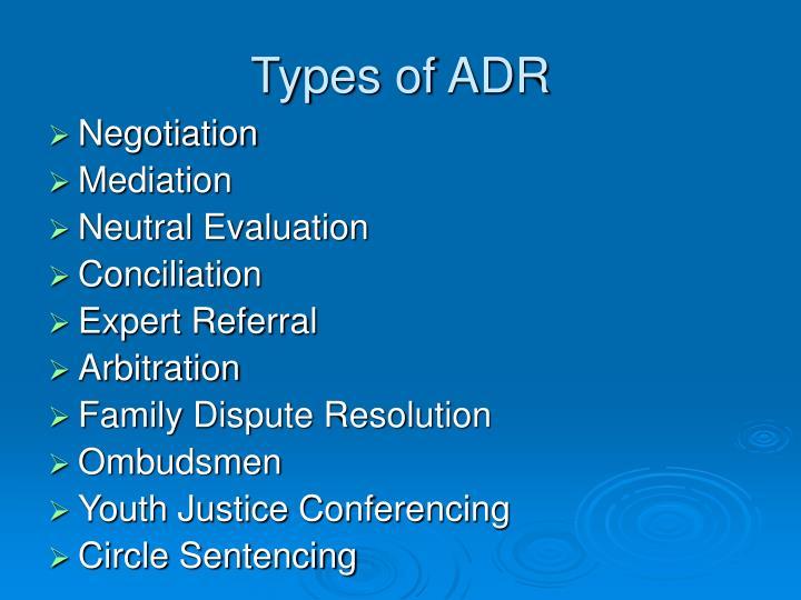 Types of ADR