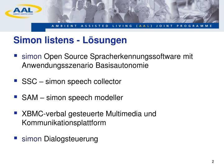 Simon listens - Lösungen