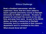 ethics challenge