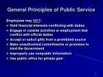 general principles of public service1