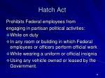 hatch act