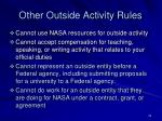 other outside activity rules