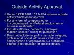 outside activity approval