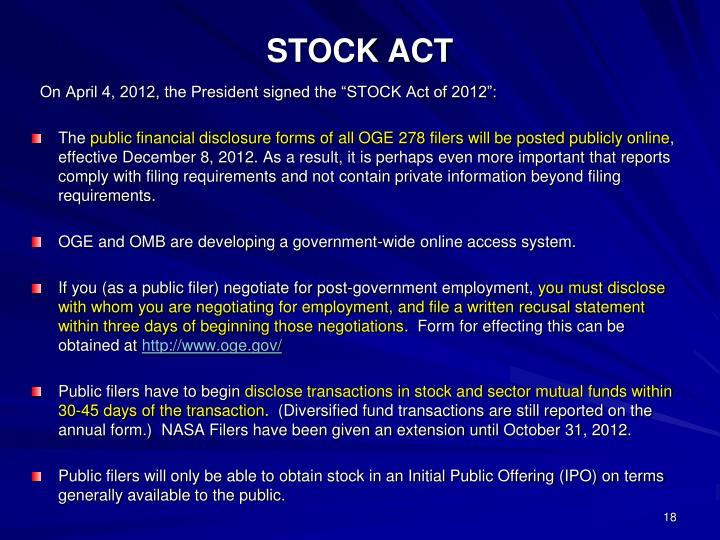 STOCK ACT