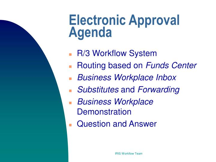 Electronic Approval Agenda