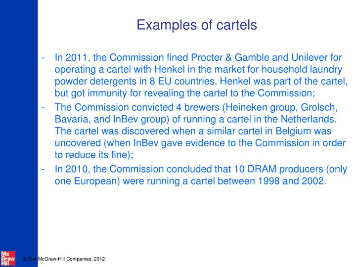 Examples of cartels