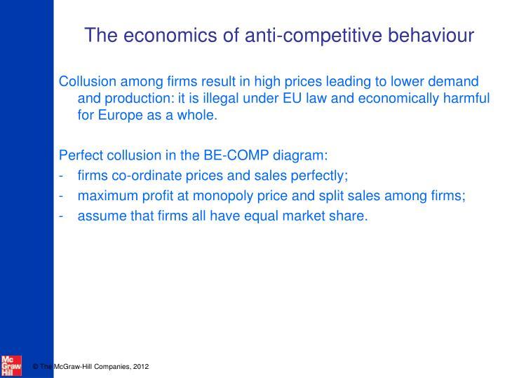 The economics of anti-competitive