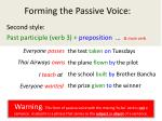 forming the passive voice1