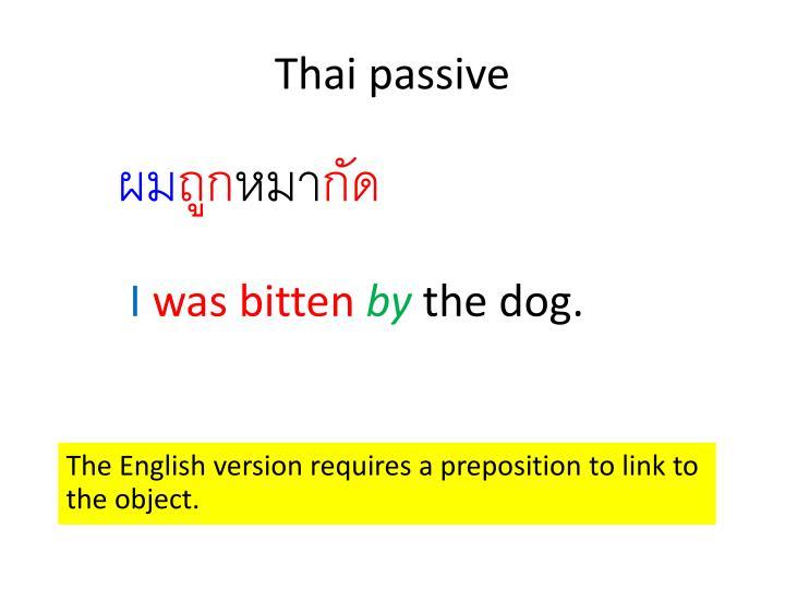 Thai passive