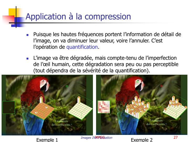 Application à la compression