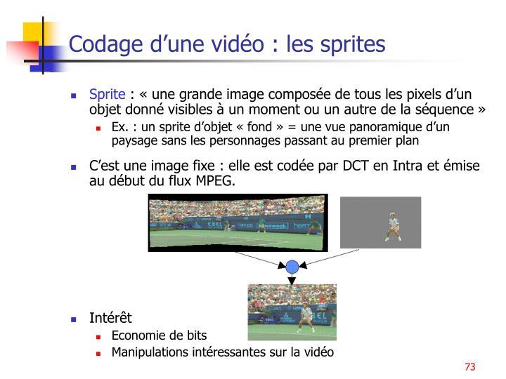 Codage d'une vidéo : les sprites