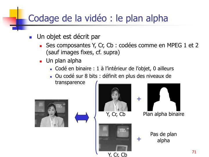 Codage de la vidéo : le plan alpha