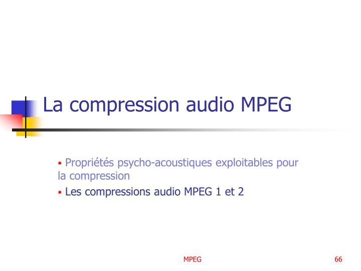 La compression audio MPEG