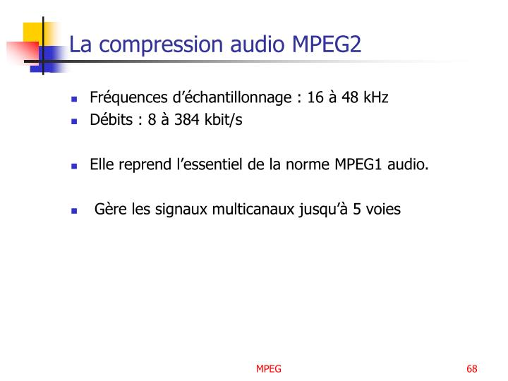 La compression audio MPEG2