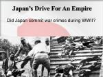 japan s drive for an empire