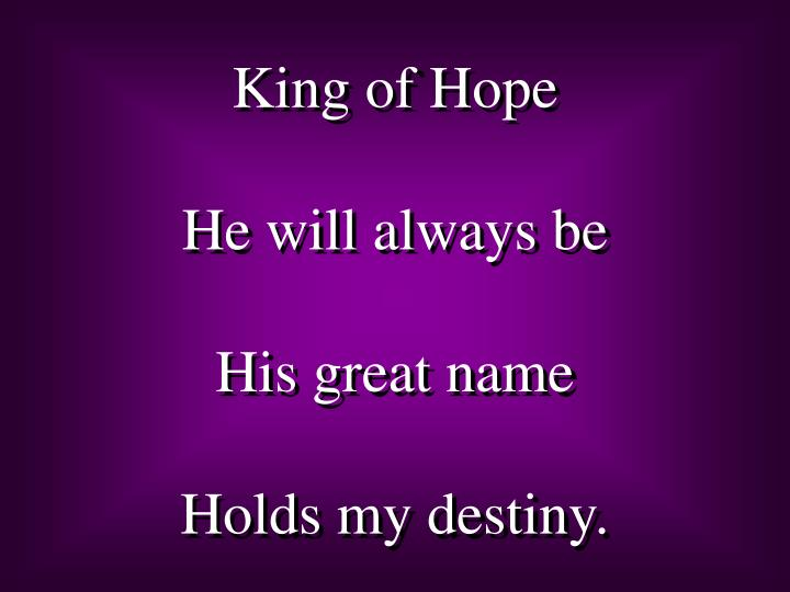 King of Hope