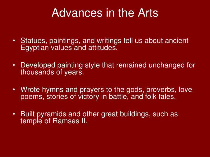 Advances in the Arts