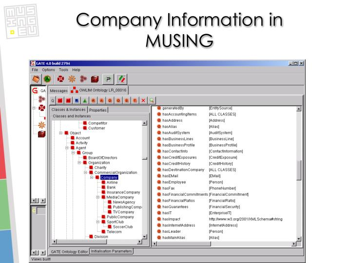 Company Information in MUSING