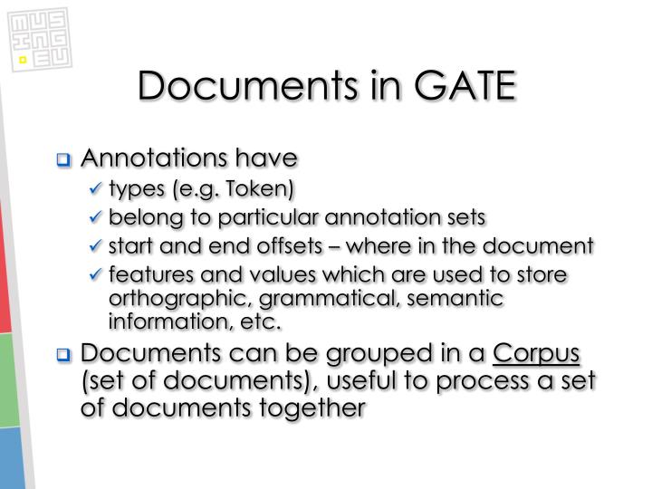 Documents in GATE
