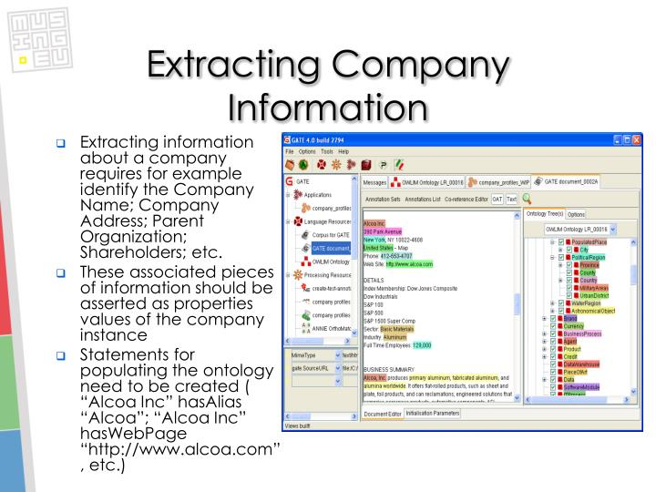 Extracting Company Information