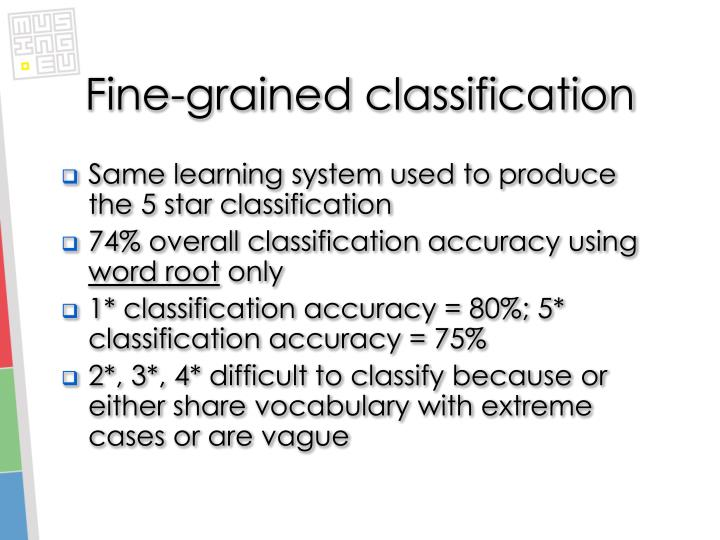 Fine-grained classification